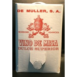 Bag in box 5 litros vino de misa De Muller