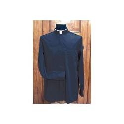 Camisa cuello romano 100% algodón